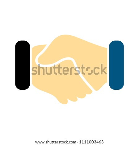 agreement deal, handshake icon - business partnership concept - friendship symbol