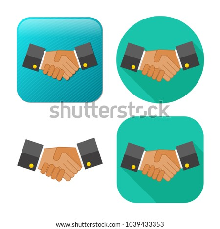 agreement, handshake icon - business partnership - friendship symbol