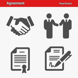 Agreement Icons. Professional, pixel perfect icons optimized for both large and small resolutions. EPS 8 format.