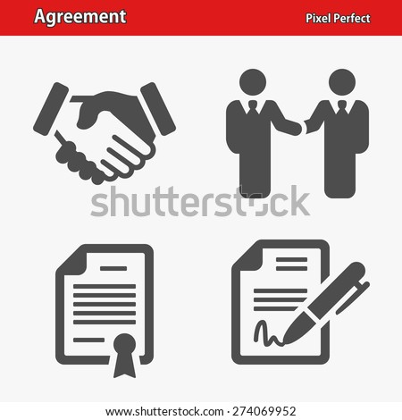 agreement icons. professional ...