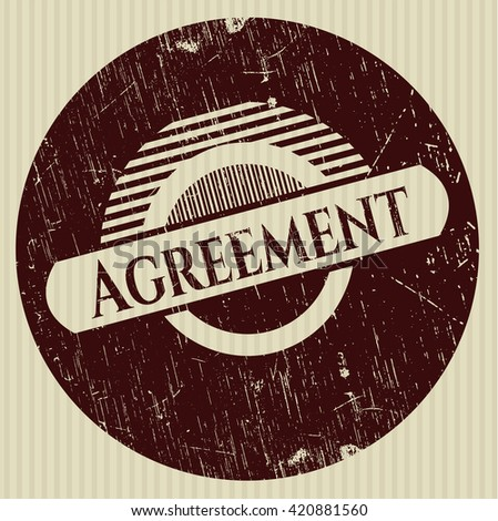 Agreement rubber grunge seal