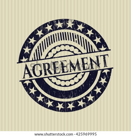 Agreement rubber stamp