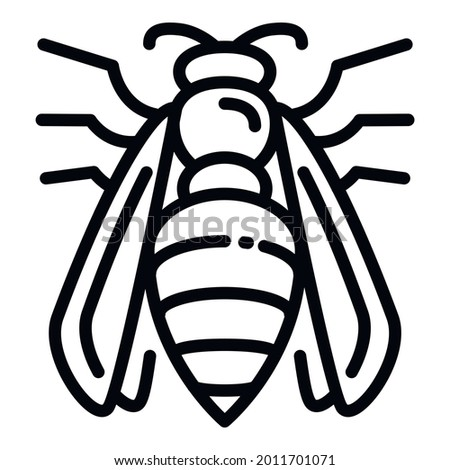 Agression wasp icon. Outline agression wasp vector icon for web design isolated on white background Stock photo ©
