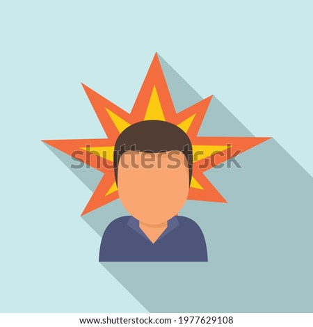 Agressive man icon. Flat illustration of Agressive man vector icon for web design Stock photo ©