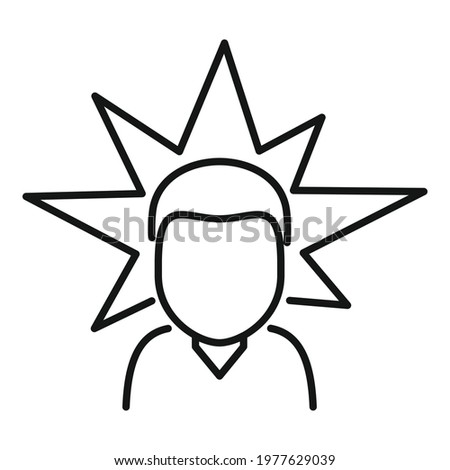 Agressive man icon. Outline Agressive man vector icon for web design isolated on white background Stock photo ©