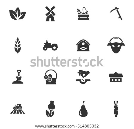 agricultural icons set for web...