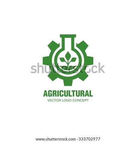Agricultural Industrial Vector Logo