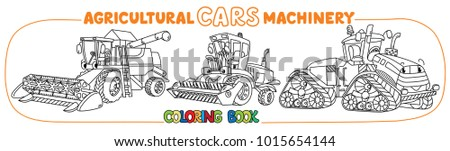 Agricultural machinery coloring book set