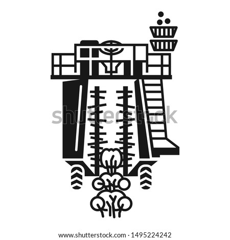 Agricultural machinery icon. Simple illustration of agricultural machinery vector icon for web design isolated on white background