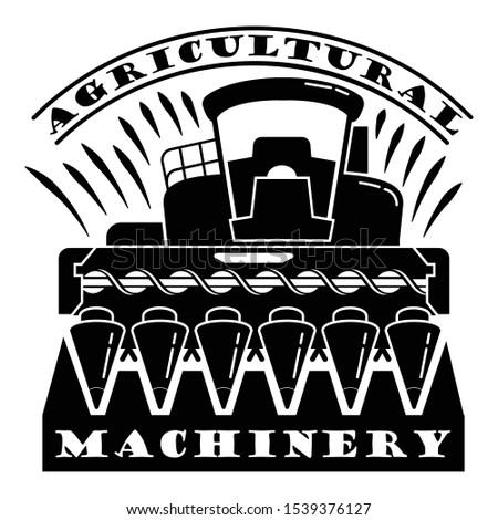 Agricultural machinery logo. Simple illustration of agricultural machinery vector logo for web design isolated on white background