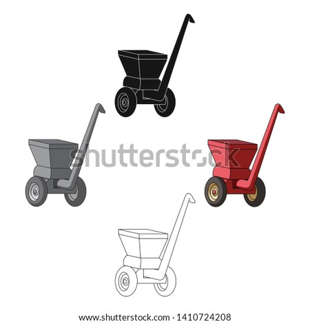 Agricultural Machinery .The machine for cutting agricultural hay.Agricultural Machinery single icon in cartoon,black style vector symbol stock illustration.