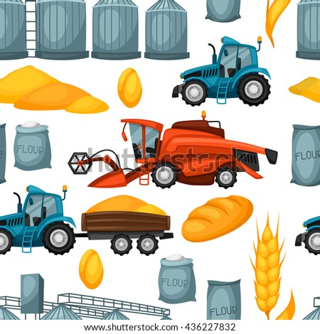agricultural seamless pattern