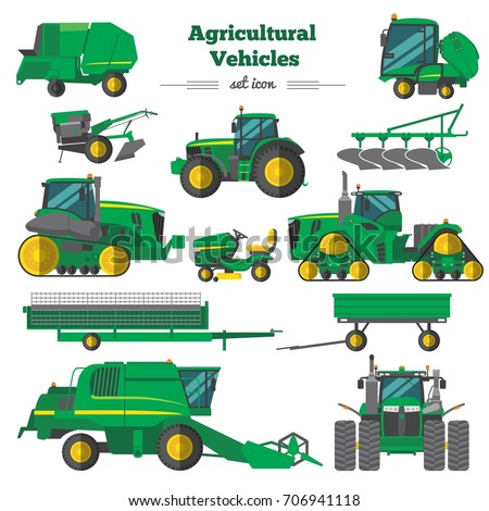 agricultural vehicles flat