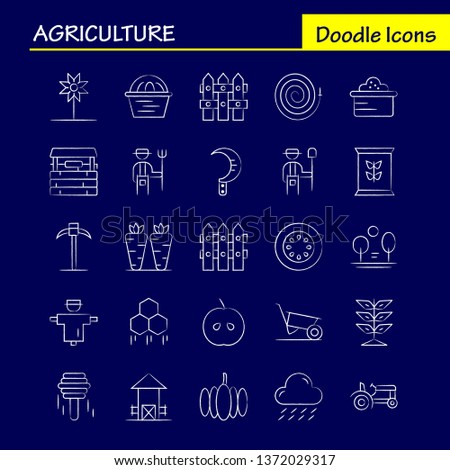 Agriculture Hand Drawn Icon Pack For Designers And Developers. Icons Of Agriculture, Apple, Country, Farm, Farming, Farm, Farming, Food, Vector