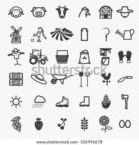agriculture icons set....