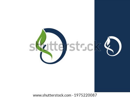 Agriculture leaf logo design world green D dna sağlık bilim letter harf yaprak doğa doğal Stok fotoğraf ©