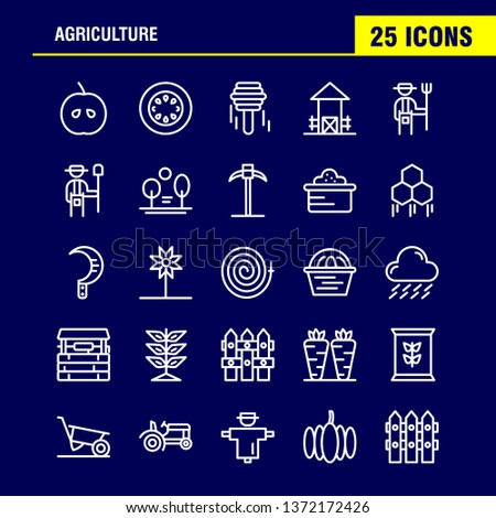Agriculture Line Icon Pack For Designers And Developers. Icons Of Agriculture, Apple, Country, Farm, Farming, Farm, Farming, Food, Vector