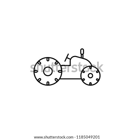 Agriculture machine line icon, outline vector sign, linear style pictogram isolated . Symbol, logo illustration