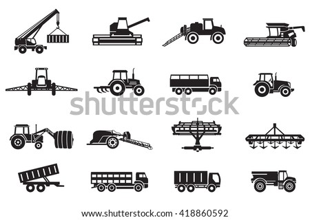 Agriculture machines tractors combine and equipment