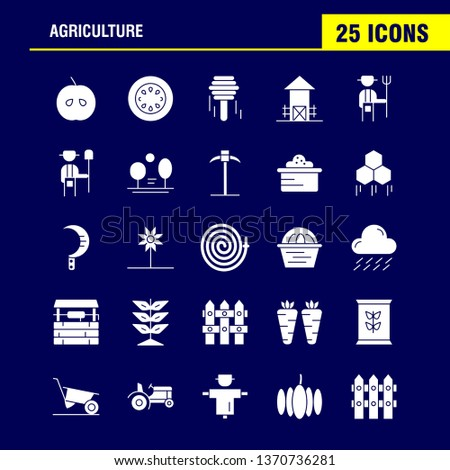 Agriculture Solid Glyph Icon Pack For Designers And Developers. Icons Of Agriculture, Apple, Country, Farm, Farming, Farm, Farming, Food, Vector