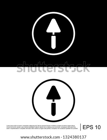 Agriculture tool, bricklayer, cement trowel, gardening tool, plastering trowel, trowel icon
