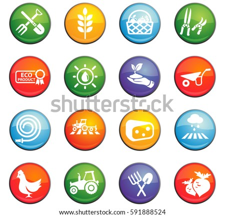 agriculture vector icons for user interface design #591888524