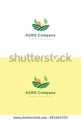 agro company logo teamplate