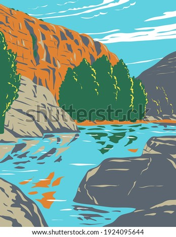 Agua Fria National Monument Centered on Agua Fria River Canyon in Arizona WPA Poster Art Foto stock ©