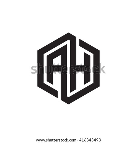 Vector Images Illustrations And Cliparts Ah Initial Letters Loop Linked Hexagon Monogram Logo Hqvectors Com
