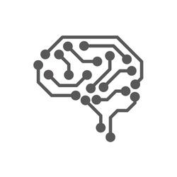 AI (artificial intelligence) icon.