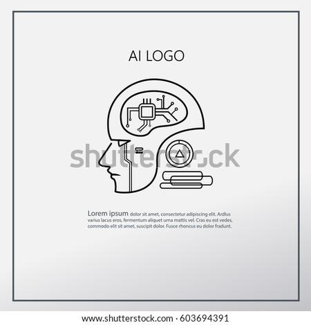 ai logo vector icon mega trend
