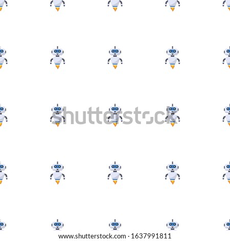 AI Robot icon pattern seamless isolated on white background. Editable flat AI Robot icon. AI Robot icon pattern for web and mobile.