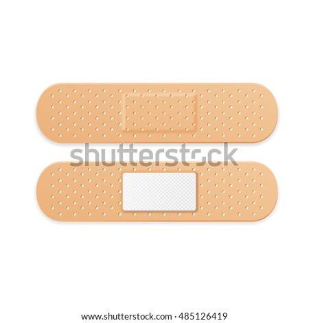 Aid Band Plaster Strips Set. Vector illustration