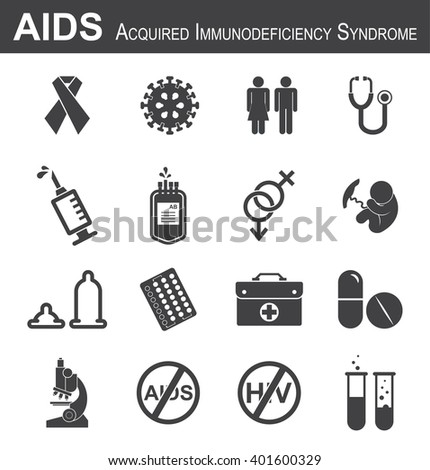 aids icon  red ribbon hiv virus