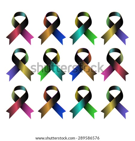 aids vector ribbon red people girl boy