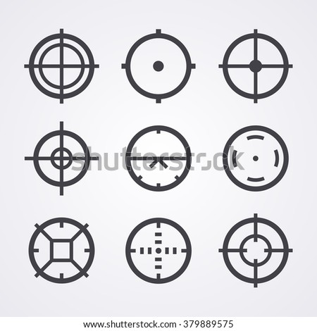 aim crosshair set icons for