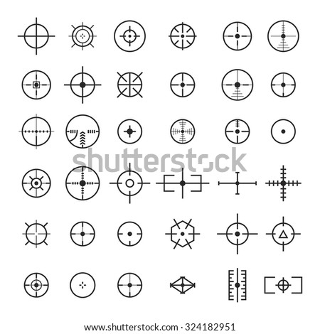 aim set of various icons