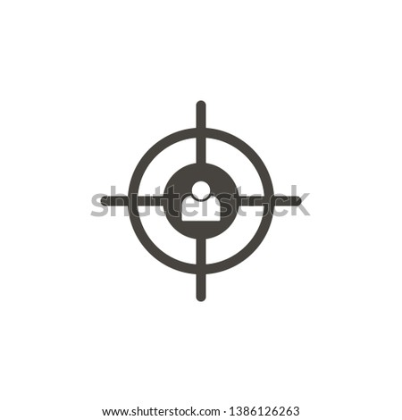 6f10719a239 Aiming, customer target vector icon. Simple element illustrationAiming,  customer target vector icon.
