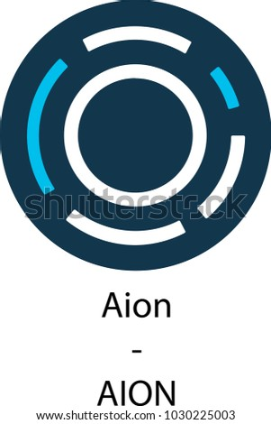 aion cryptocurrency vector icon