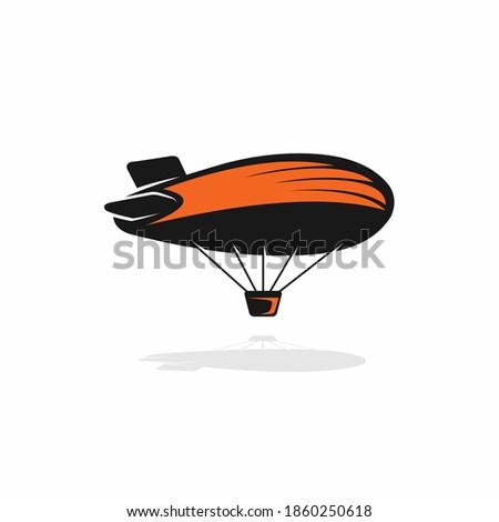 air balloon vector with rocket