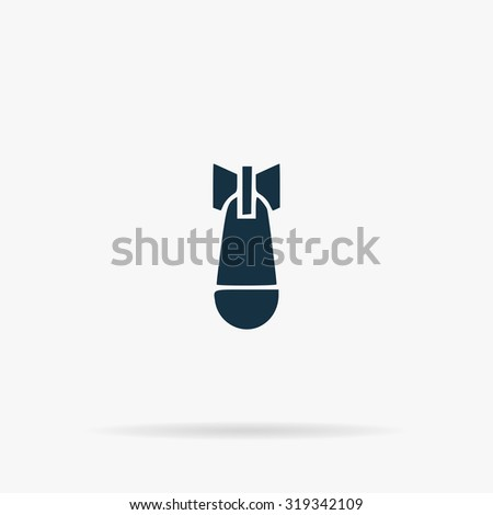 air bomb flat vector web icon