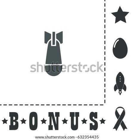 air bomb simple flat symbol