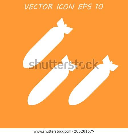 air bomb vector icon flat