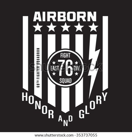 air born fighter typography  t