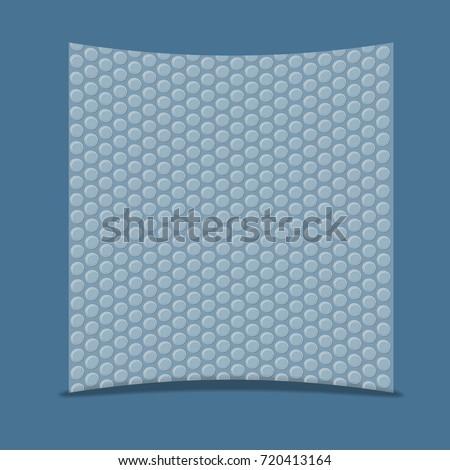 Air bubble wrap vector illustration.