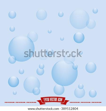 air bubbles icon vector