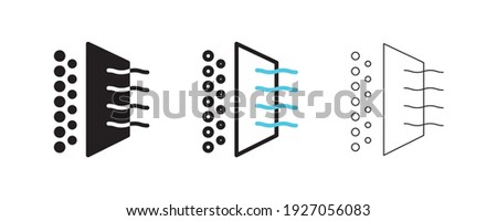 Air cleaner filter icons. Editable line shapes. Icon for air purification filtration. Simple line Air Cleaner icon for templates, web design, logo and infographics.