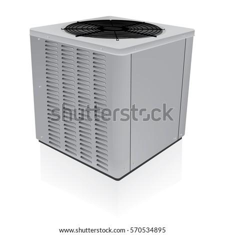 Air conditioner outdoor system vector
