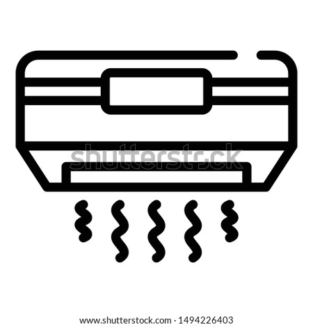 Air conditioning icon. Outline air conditioning vector icon for web design isolated on white background