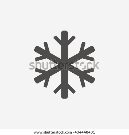 Air conditioning icon. Snowflake symbol. Flat icon on white background. Vector